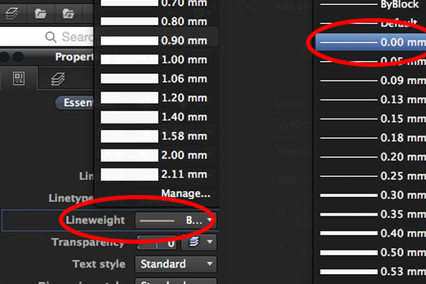 Lineweight in AutoCAD